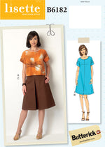Butterick 6182 - Lisette Top, Dress & Box Pleat Skirt