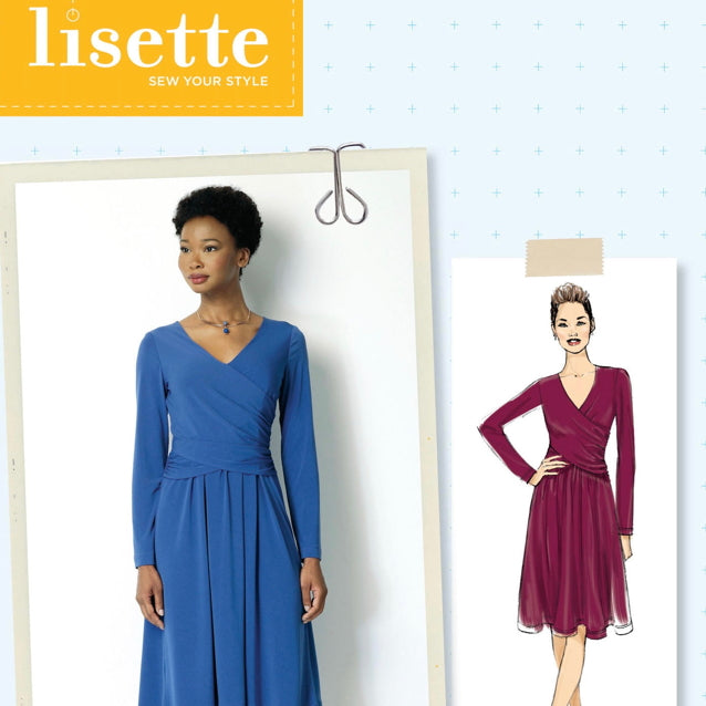 Butterick 6411 - Lisette Ruched Jersey Wrap Dress