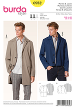 Burda Men's 6932 Sports Coat & Jacket