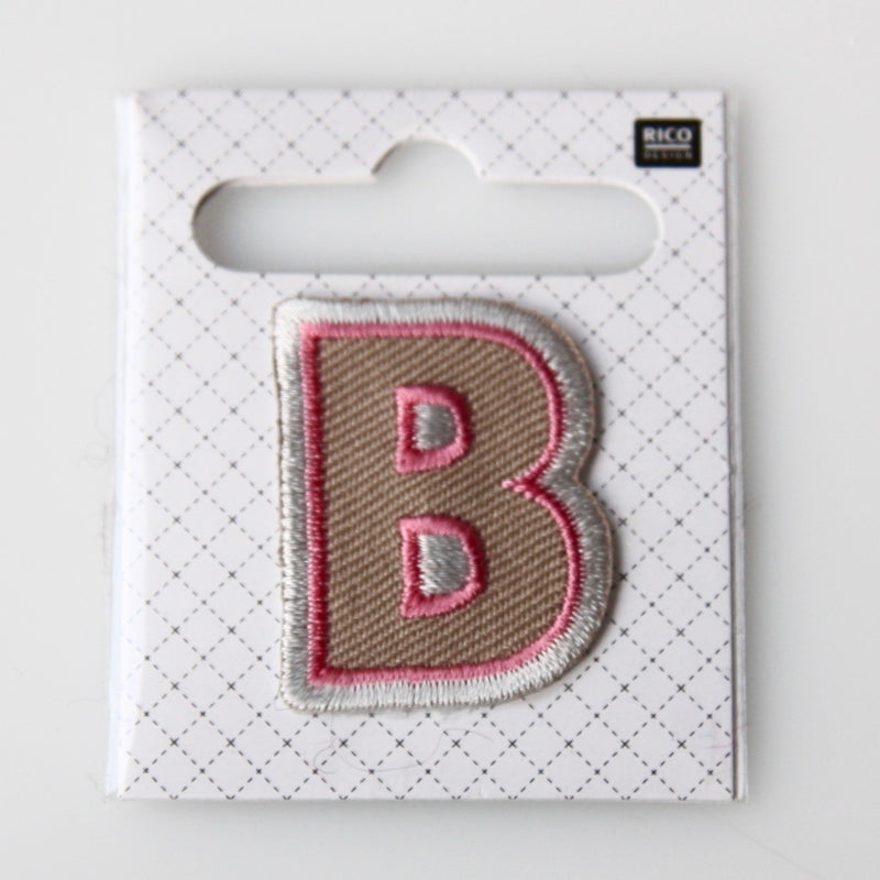 Iron-On Alphabet Patch - B