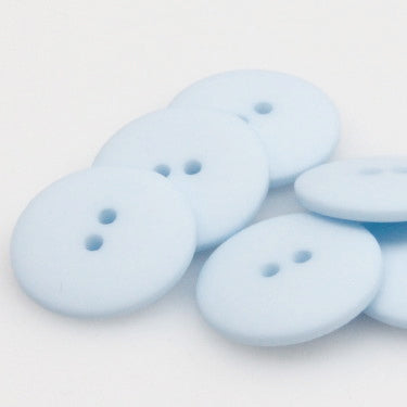 Satin Polyester Buttons - Baby Blue