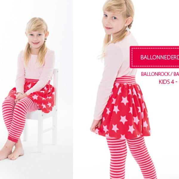 Minikrea 30103 - Girl's 'Ballonnederdel' Balloon Skirt 4-10yrs