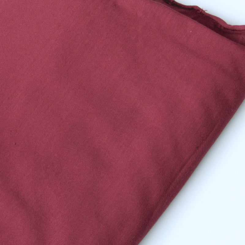 Bamboo Stretch Knit - Burgundy
