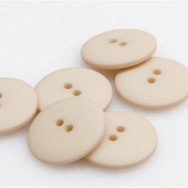 Satin Polyester Buttons - Beige