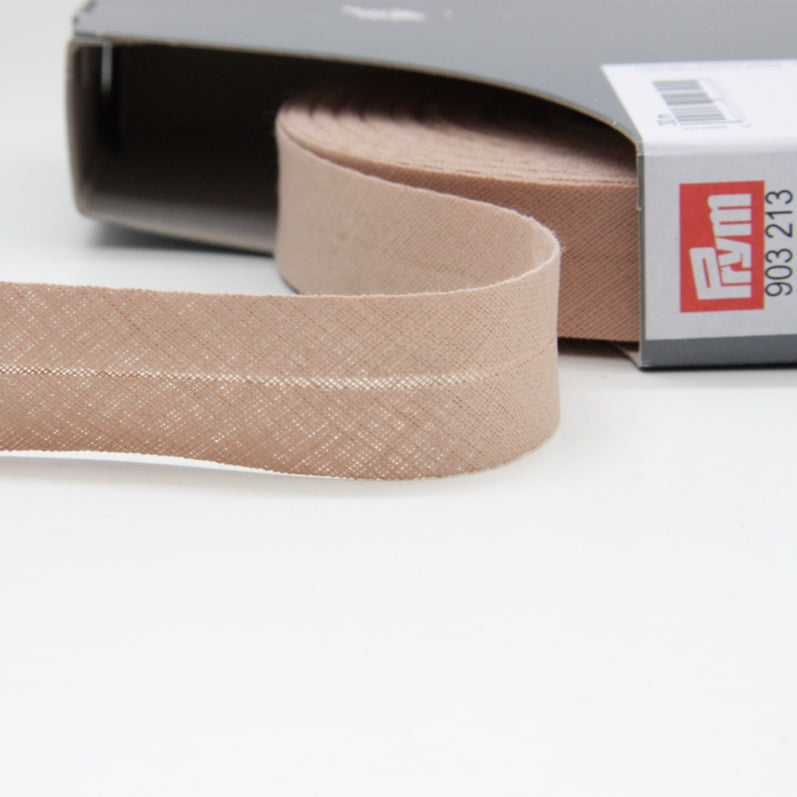Prym Cotton Bias Binding 20mm - 213 Sand