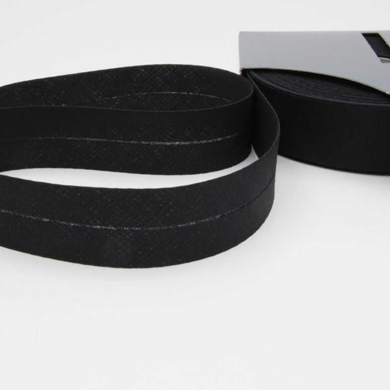 Prym Cotton Bias Binding 30mm - 400 Black