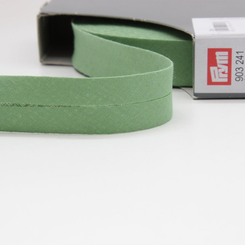 Prym Cotton Bias Binding 20mm - 241 Apple Green