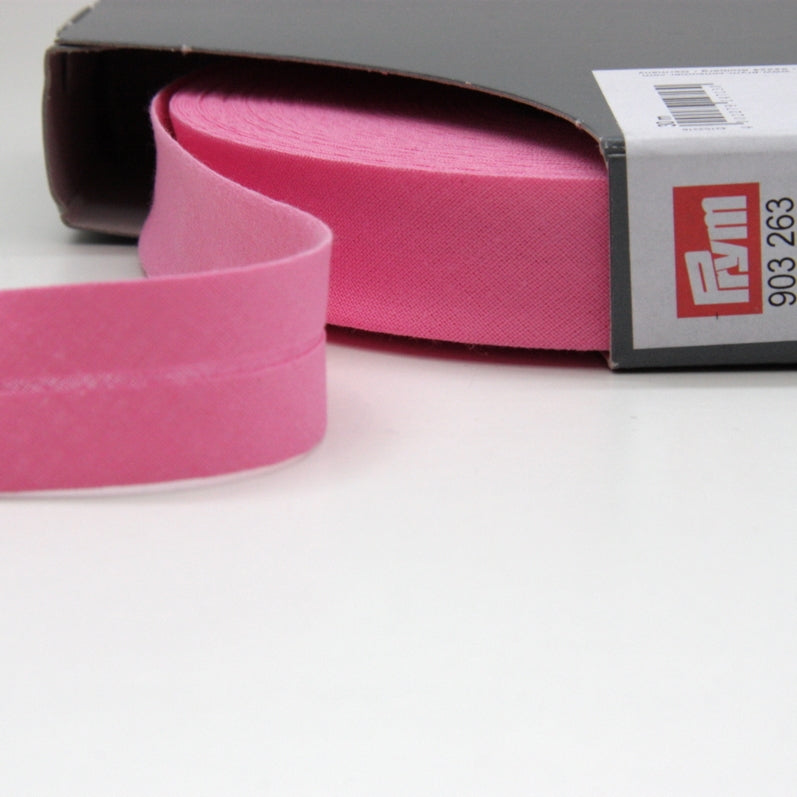 Prym Cotton Bias Binding 20mm - 263 Pink