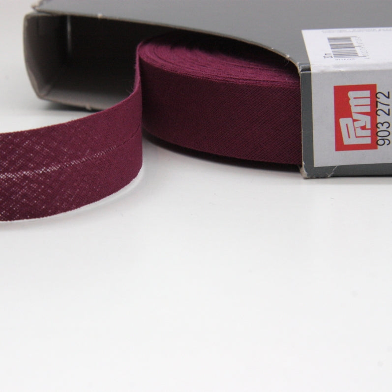 Prym Cotton Bias Binding 20mm - 272 Blackberry