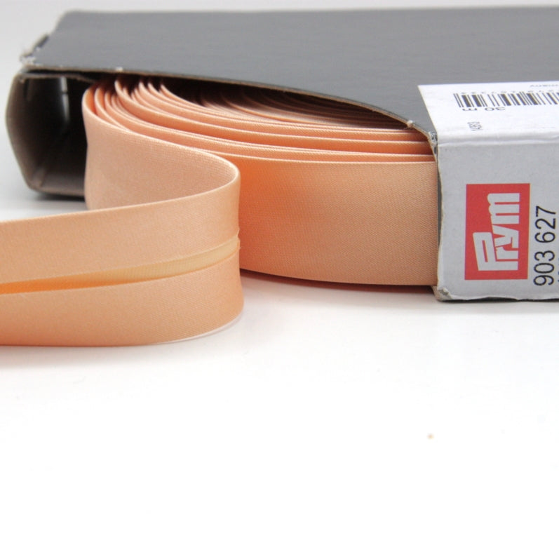 Prym Satin Bias Binding 20mm - 627 Soft Gold