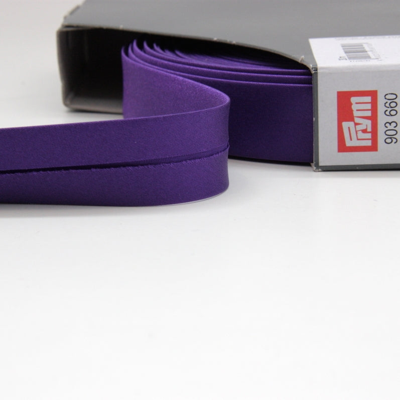 Prym Satin Bias Binding 20mm - 660 Purple