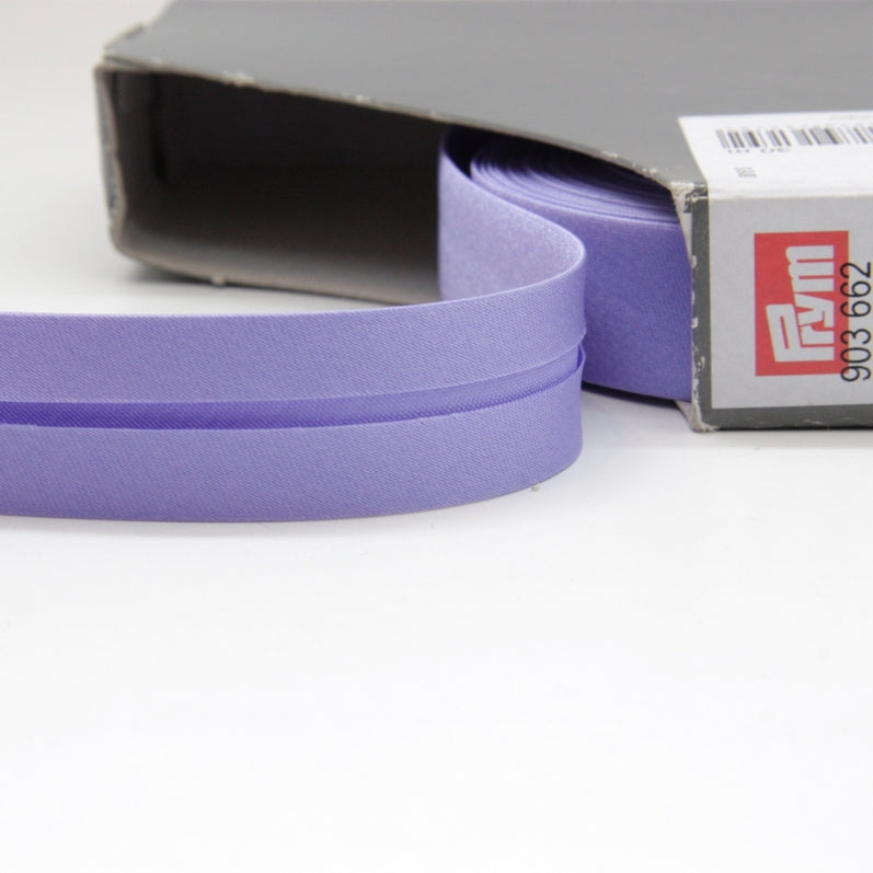 Prym Satin Bias Binding 20mm - 662 Lavender