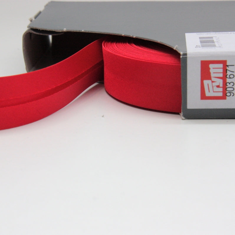 Prym Satin Bias Binding 20mm - 671 Red