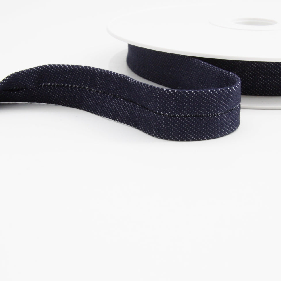 Jersey Binding 20mm - Dark Denim