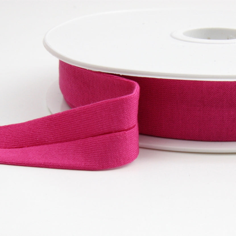 Viscose Jersey Binding 20mm - Magenta
