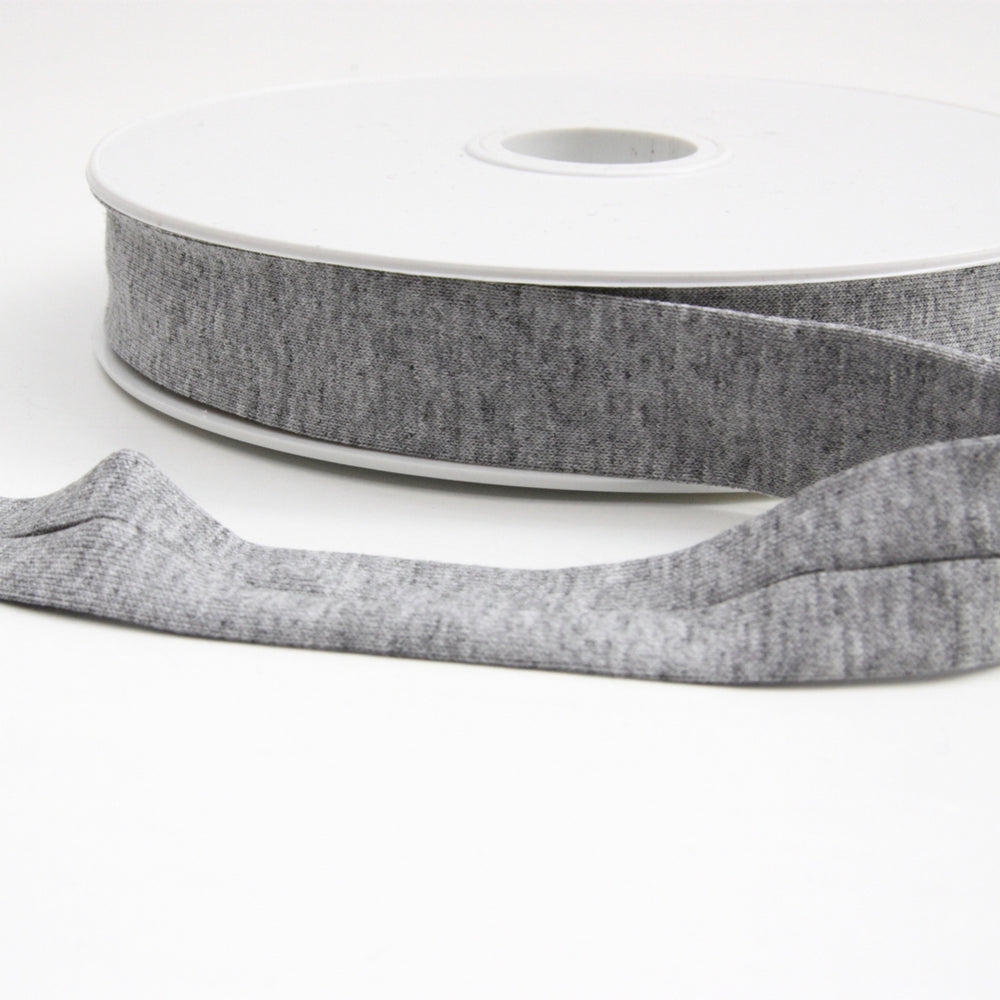 Viscose Jersey Binding 20mm - Grey Marl