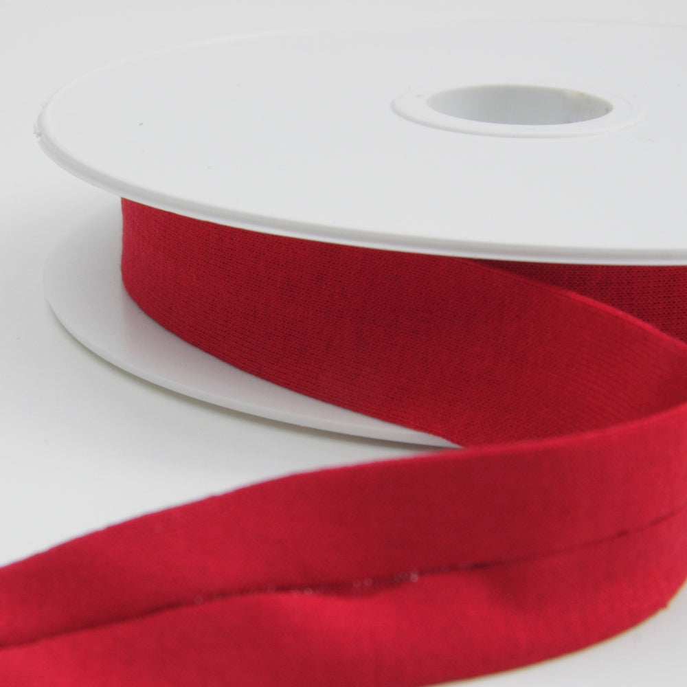 Cotton Jersey Binding 20mm - Red