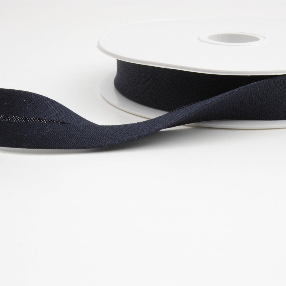 Linen Bias Binding 20mm - Navy Blue