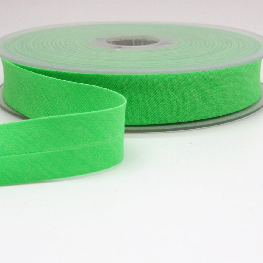 Fluoro Bias Binding 20mm - Neon Green