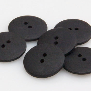 Satin Polyester Buttons - Black