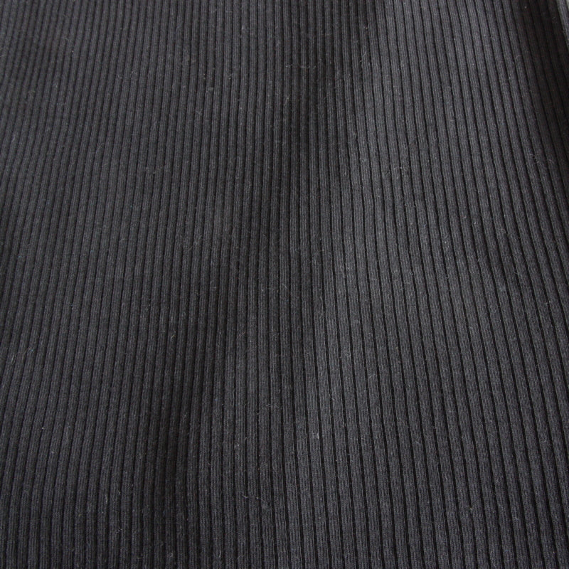 Organic Cotton Ribbed Jersey - Black