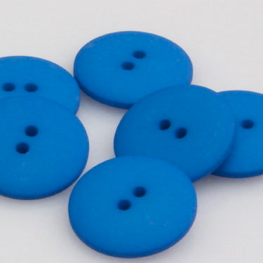 Satin Polyester Buttons - Royal Blue