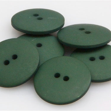 Satin Polyester Buttons - Bottle Green
