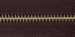 Brass Open-Ended Zip - Brown 570