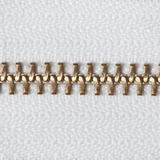 Brass Open-Ended Zip - White 501