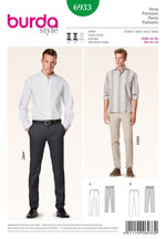 Burda Men's - 6933 Fitted Trousers