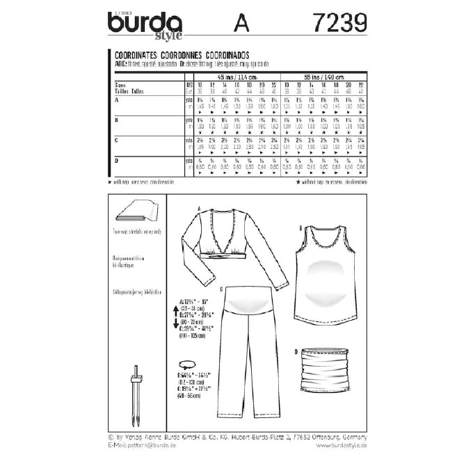 Burda Maternity - 7239 Jersey Separates