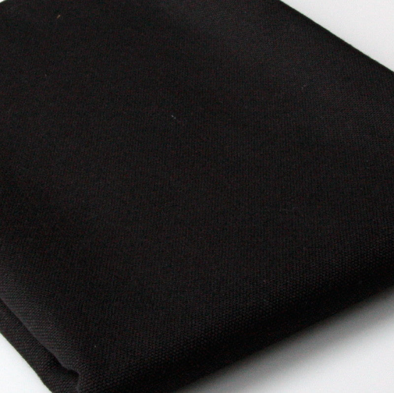 Organic Cotton Canvas - Black