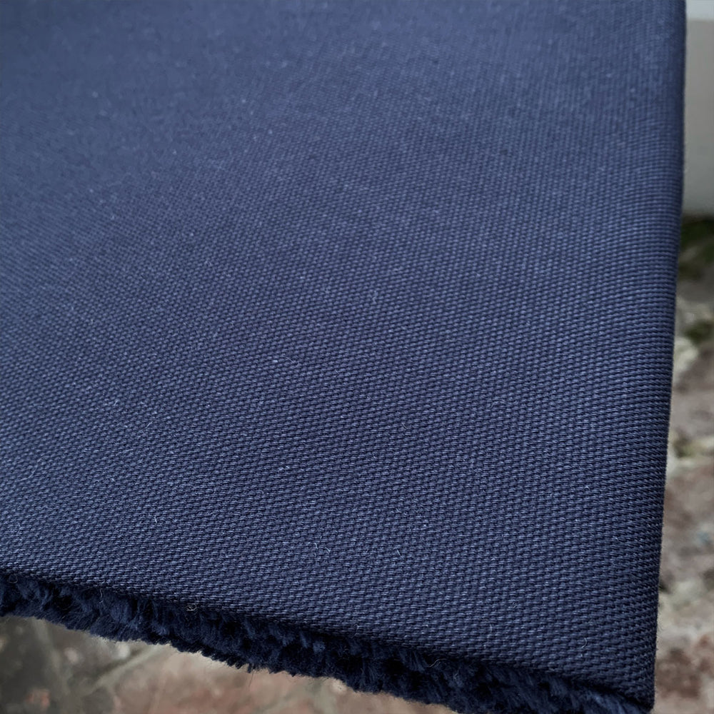 Organic Cotton Canvas - Navy