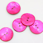 Coloured Shell Buttons - Cerise