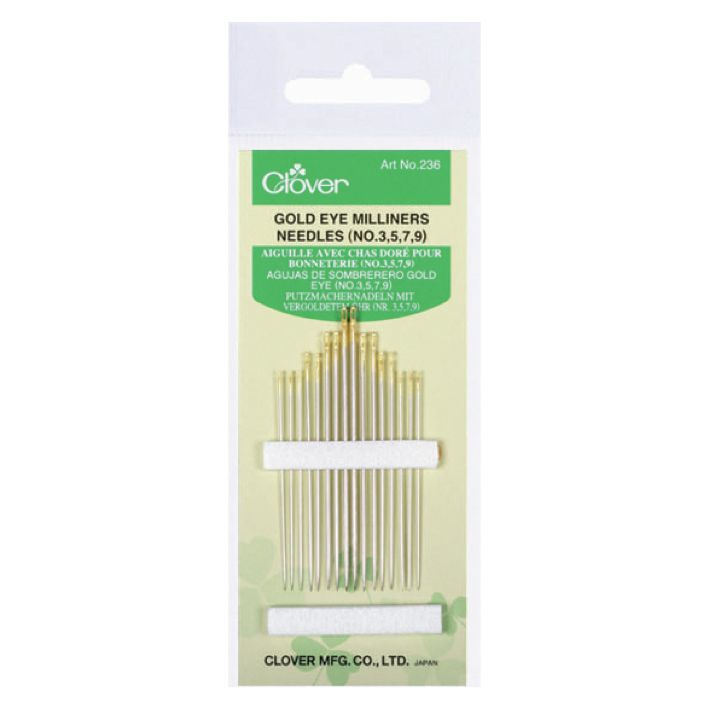 Clover 235 - Millinery Needles No.3-9
