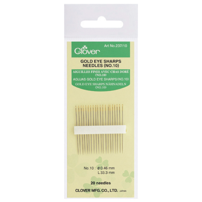Clover 237/10 - Sharps Needles No. 10