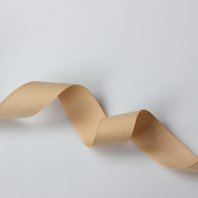 Coloured Cotton Tape - Beige