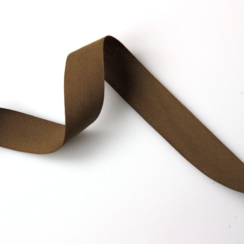 Coloured Cotton Tape - Brown
