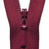 Concealed Zip - Dark Wine 527