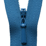 Concealed Zip - Saxe Blue 557