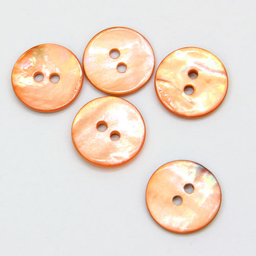 Coloured Shell Buttons - Coral
