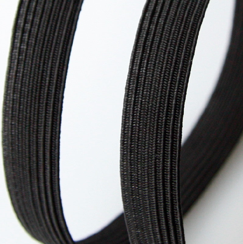 Corded Flat Elastic - Black
