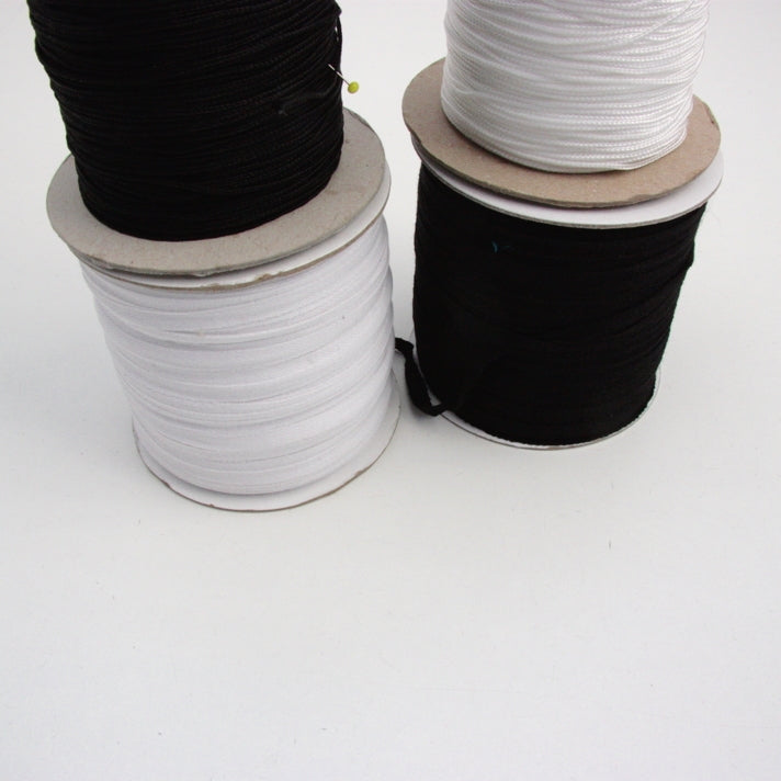 Cotton Stay Tape - Black 7mm