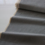 Japanese Cotton Shirting - Pin Stripe Dark Blue