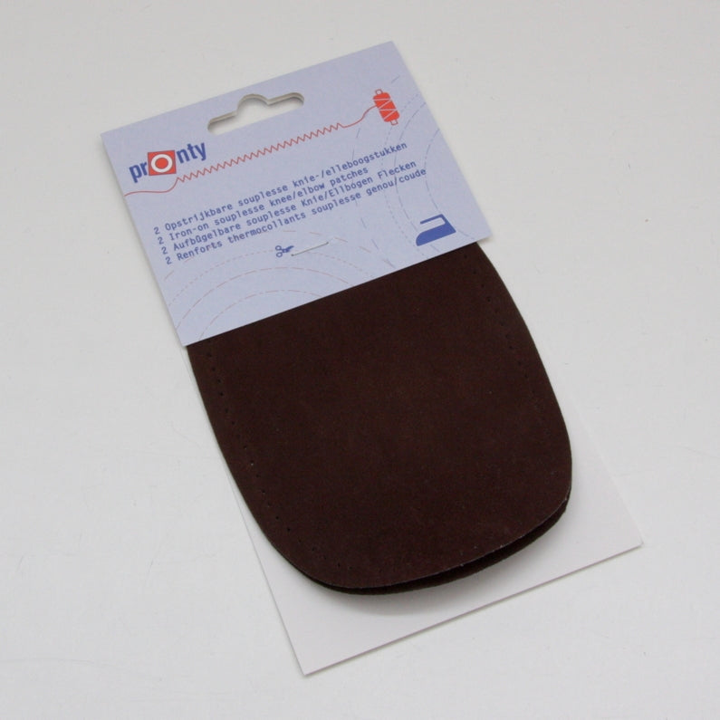 Pronty Iron-on Suede Elbow Patches - Brown