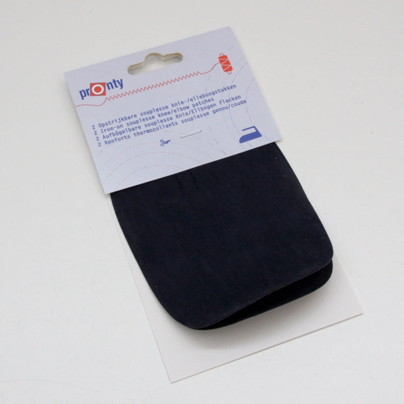 Pronty Iron-on Suede Elbow Patches - Navy
