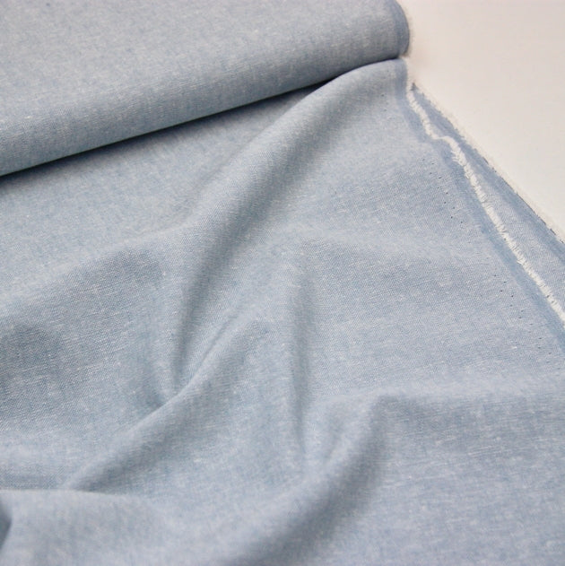 Essex Linen Mix Chambray - Baby Blue