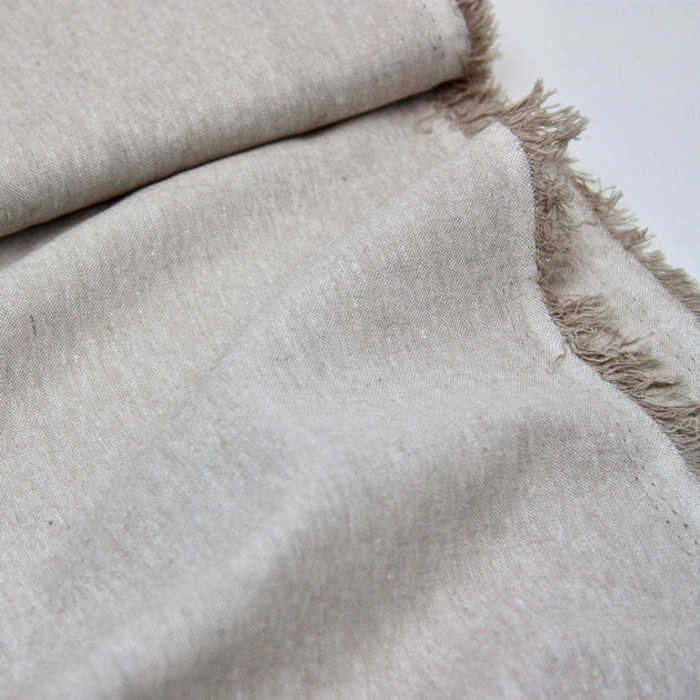 Essex Linen Mix Chambray - Flax