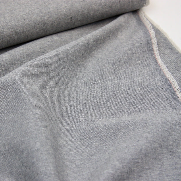 Essex Linen Mix Chambray - Graphite