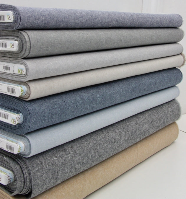 Essex Linen Mix Chambray - Nautical